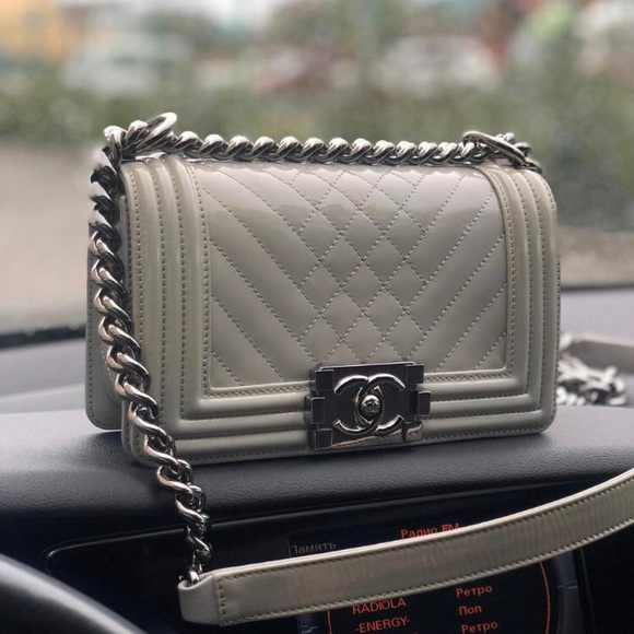 CHANEL Handbags - Chanel Small Le boy Patent Leather Bag